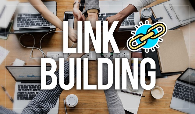 Business people putting their hands together to build links online